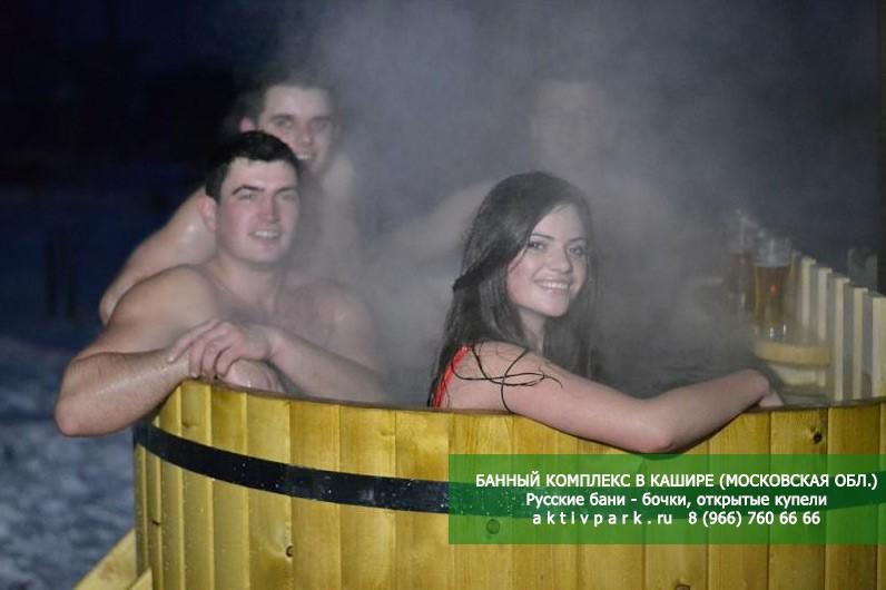 Русские бани - бочки с открытыми купелями в Кашире и Ступино