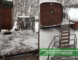 Кедровая купель в бане - Банный комплекс в Подмосковье (Кашира)