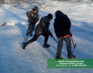 Зимний каток на Малеевском Пруду - АКТИВПАРК в Кашире (база отдыха в Подмосковье)